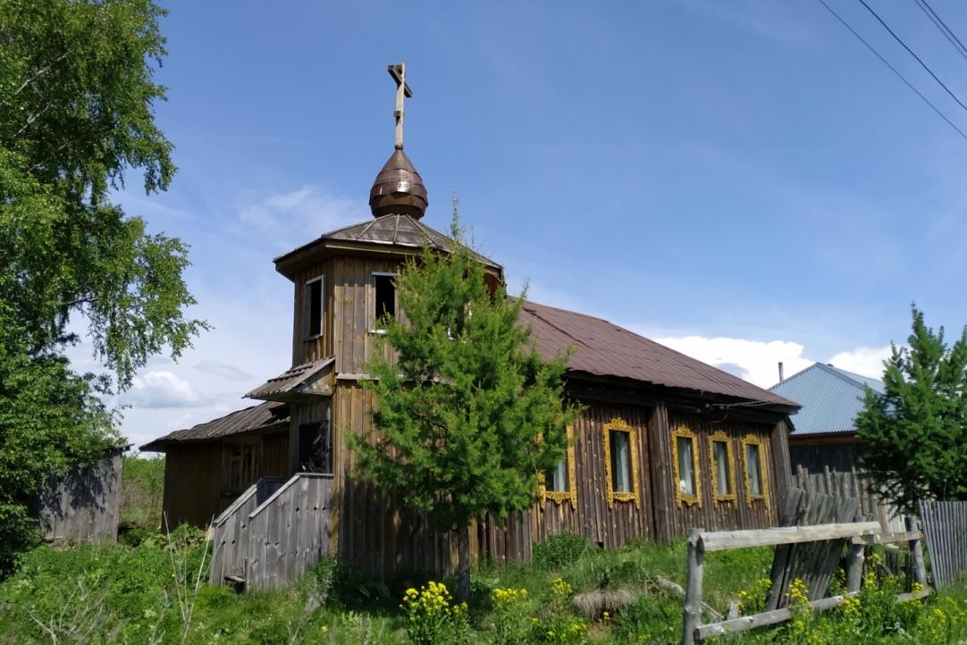 Заброшенная часовня одного из направлений альтернативного православия в деревне Полупочинки